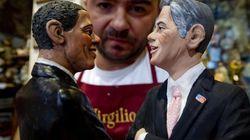Obama e Romney da presepe napoletano