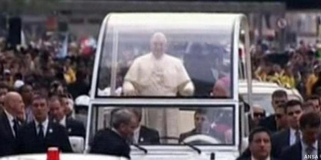 Papa Francesco alla Gmg di Rio de Janeiro: accoglienza record per Bergoglio