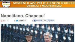 Beppe Grillo loda Giorgio Napolitano: