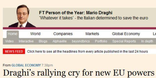 Mario Draghi uomo dell'anno per il Financial Times: l'italiano che vuole salvare