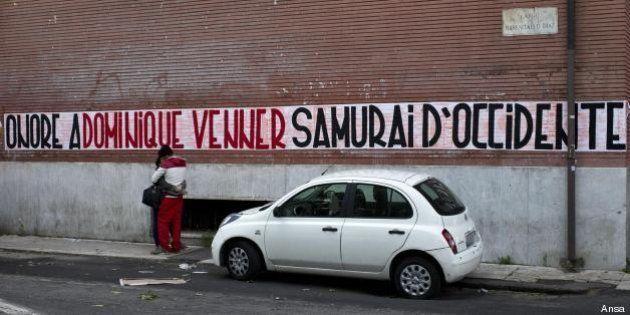Casapound, striscioni in ricordo di Dominique Venner sui muri di tutta Italia