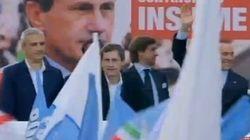 Silvio in piazza per il comizio di Alemmanno
