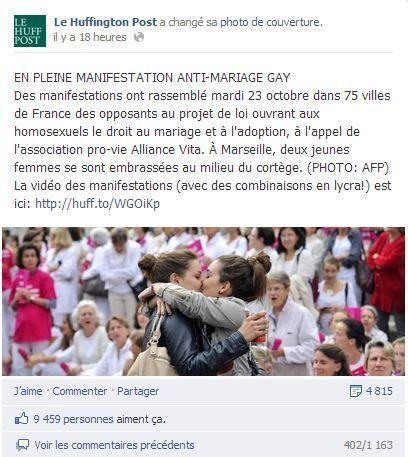 Il bacio di Marsiglia: la foto di due ragazze che si abbracciano a una manifestazione anti-matrimonio...