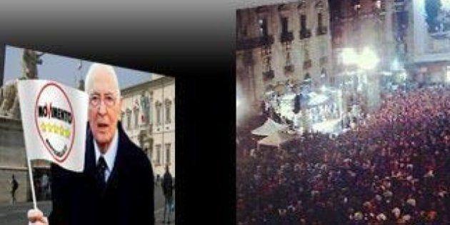 Beppe Grillo a Napolitano: