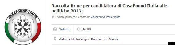 CasaPound vuole correre alle elezioni politiche del 2013, al via la raccolta firme: banchetti nelle principali...