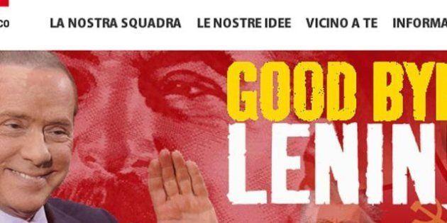 Silvio Berlusconi lascia: sul sito del Pd il banner ironico