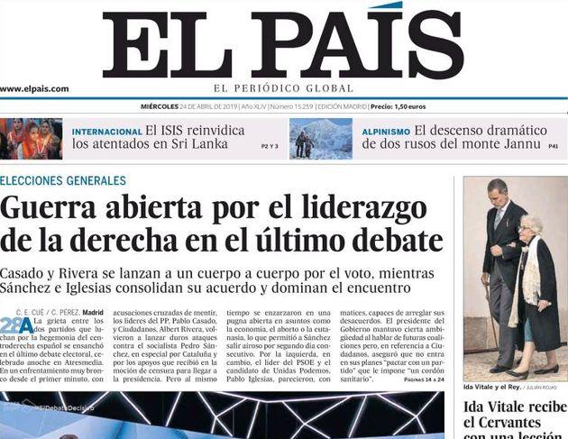 La bronca entre la derecha en el debate de Atresmedia copa las portadas de la prensa