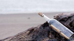 Il viaggio in mare della bottiglia è durato 28