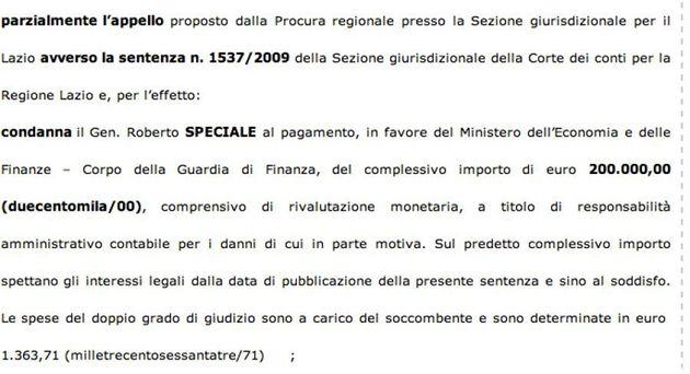 Roberto Speciale condannato dalla Corte dei conti per lo spigola gate: dovrà risarcire lo Stato di 200...