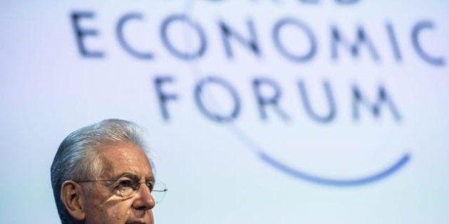 Elezioni 2013, Mario Monti parla da premier alla platea di Davos e porta la campagna elettorale in Europa:...