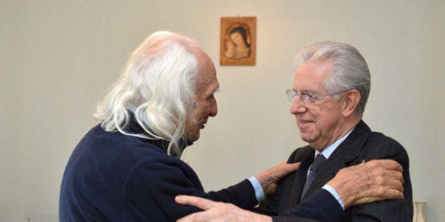 Mario Monti in visita da Marco Pannella: