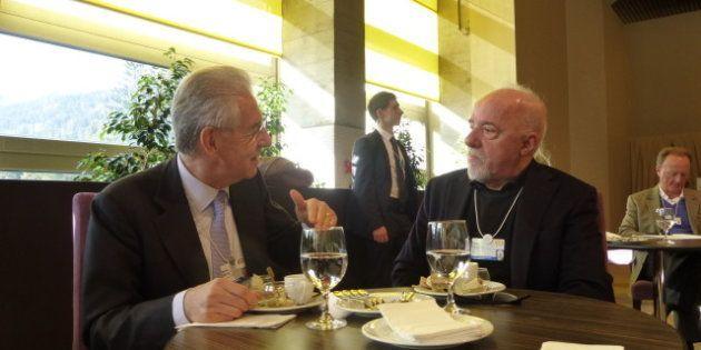 Mario Monti e Paolo Coelho, il riformista e l'alchimista a pranzo insieme. Il Prof chiede consigli allo...