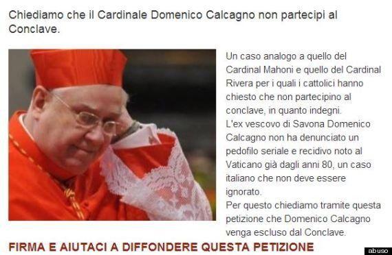 Conclave 2013: petizione contro il cardinale Domenico Calcagno,