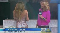 Mariah Carey, il fuori programma durante GMA: il vestito Versace rischia di cadere