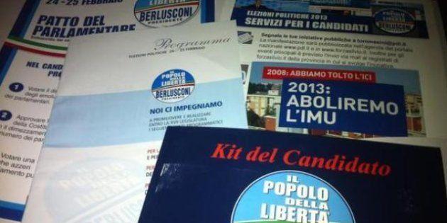 Elezioni 2013, Silvio Berlusconi: torna il kit del candidato Pdl. La valigetta di Silvio illustrata da...