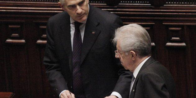 Elezioni 2013: Mario Monti e Pier Ferdinando Casini, primi segni di gelo. Il Professore: