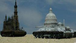 Churchtanks, le cattedrali di Kris Kuksi: chiese corazzate come carri