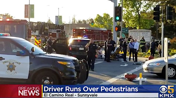 Car Appears To Deliberately Plow Into Pedestrians In Sunnyvale, Injuring 8