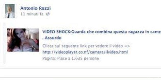 Antonio Razzi su Facebook: il senatore guarda video hot
