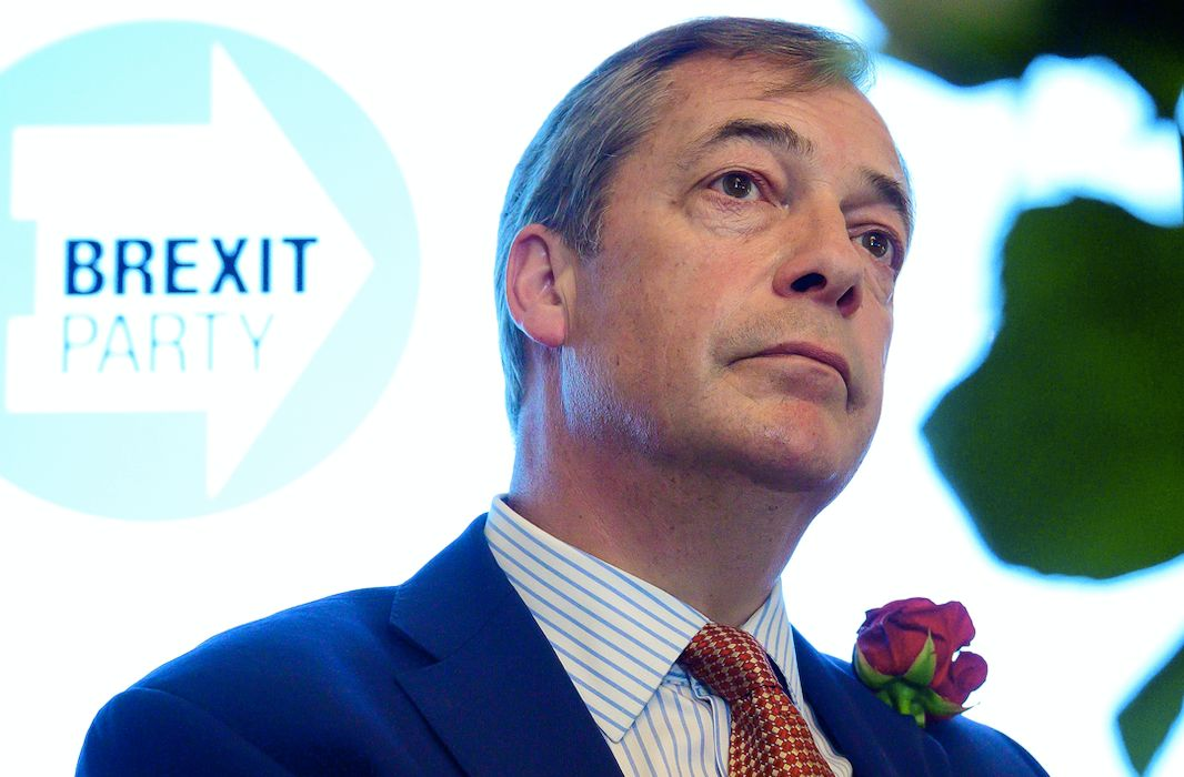 The Conservatives are facing a resurgent Nigel Farage with his new Brexit Party (Getty)