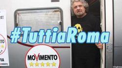 Grillo arriva a Roma: