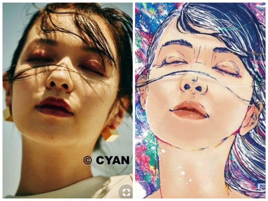 比較写真。左が「CYAN issue 010(2016