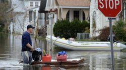 Sandy riporta al centro il climate change, un cambiamento che soffia in direzione Obama (FOTO,