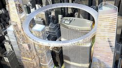 Un ciambella gigante nel cielo di NYC