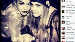 Rita Ora e Cara Delevingne dichiarano il loro amore via twitter