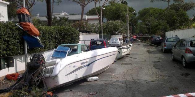 Tromba d'aria a Santa Severa. Danneggiate barche e stabilimenti