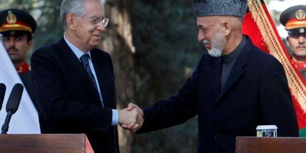 4 novembre, Monti vola in Afghanistan per incontrare i soldati italiani e il presidente afghano