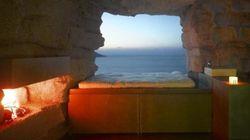 Soggiorno nella roccia con vista sull'Oceano