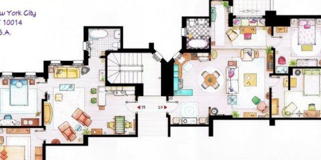 Friends, Dexter, Simpson e Sex and The City: le mappe delle loro case