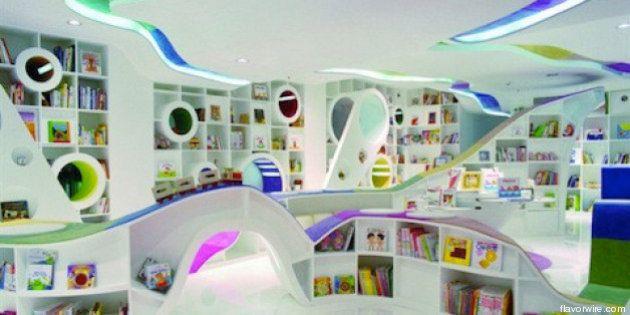 Librerie a colori e di design: le biblioteche più divertenti