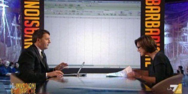 Matteo Renzi, il file Excel a