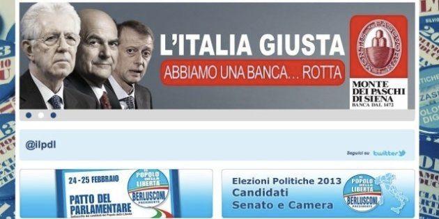 Elezioni 2013: Mario Monti e Pdl attaccano il Pd sul caso Mps. Ironia sul web
