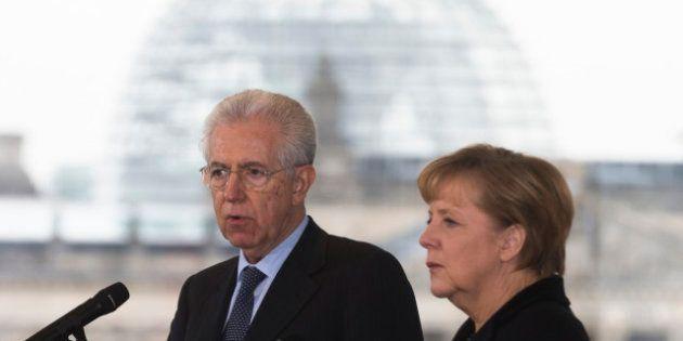 Elezioni 2013, Mario Monti cambia passo in campagna elettorale e nell'incontro con Angela Merkel presenta...
