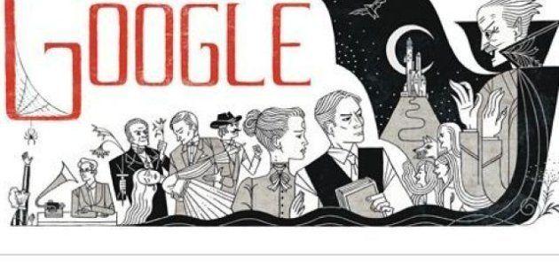 Google: un doodle per Bram Stoker, oggi 165esimo anniversario della nascita (FOTO,