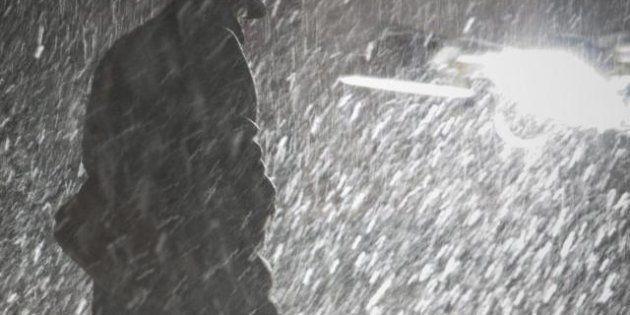 New York: dopo l'uragano Sandy la tempesta di neve