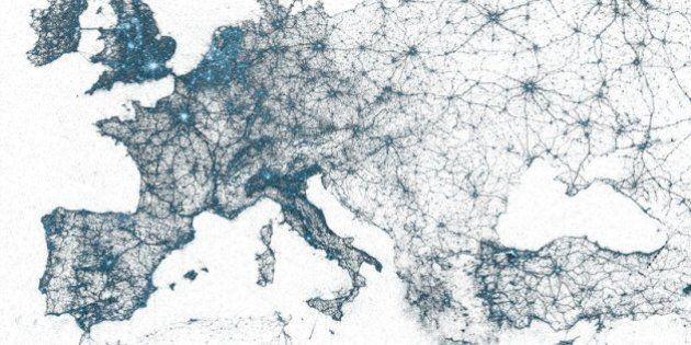 Twitter nel mondo, la mappa dei cinguetti vista dal social network