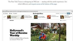 Il New York Times si rifa il look...