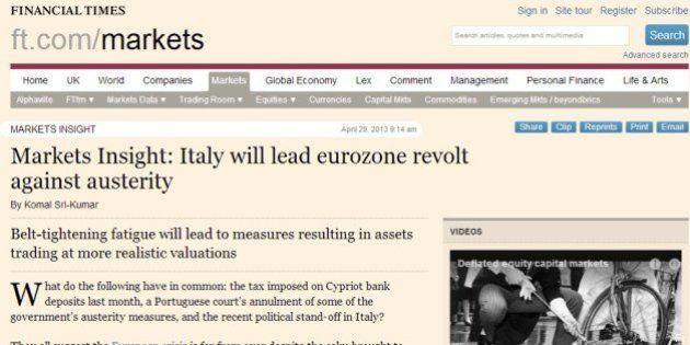 Crisi, per il Financial Times