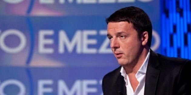 Matteo Renzi ospite a Otto e mezzo: