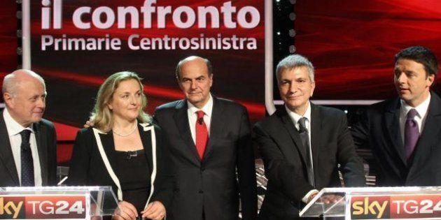 Primarie 2012 centrosinistra, il confronto fra i candidati fa breccia in tv: 6,07% di share per Sky e