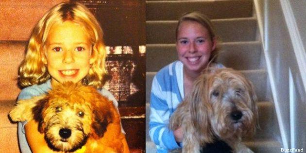 Crescere con i propri animali: il fotoconfronto ieri e oggi