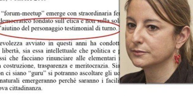 Roberta Lombardi scriveva:
