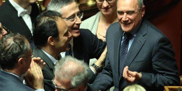 Presidenti Camera e Senato, Piero Grasso eletto a palazzo Madama con 13 voti più del previsto.