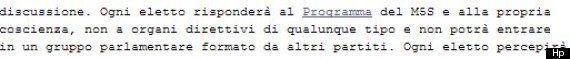 Blog Beppe Grillo: Quando il leader M5S scriveva: