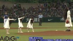 The ring sul campo da Baseball. Il lancio è