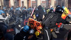 14 novembre, guerriglia urbana a Roma (FOTO,